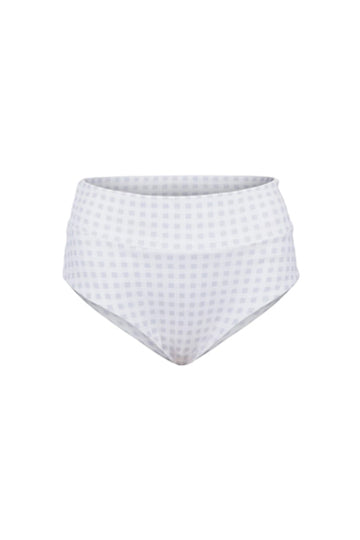HIGH-RISE BRIEF IN WHITE GINGHAM