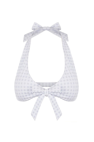 STARBOARD TOP IN WHITE GINGHAM