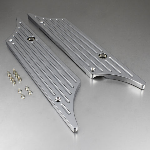 1993-2013 Harley Touring Bagger Luggage Latch Covers - Chrome-Luggage Latch Covers-HellBend Custom Cycles