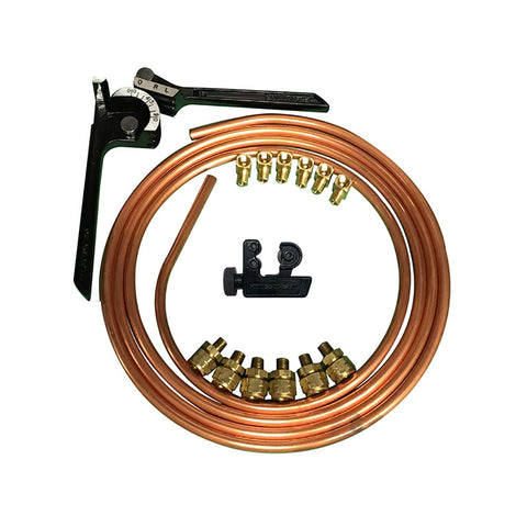 COPPER HARD OIL LINE KIT FOR HARLEY DAVIDSON® MOTORCYCLES, CHOPPERS AND BOBBERS-TANK FITTINGS & OIL LINES-HellBend Custom Cycles