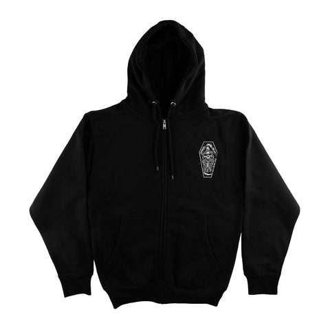 Hellbend Classic Coffin Reaper Zip Up Hoodie-Apparel, Goods, & Gear-HellBend Custom Cycles