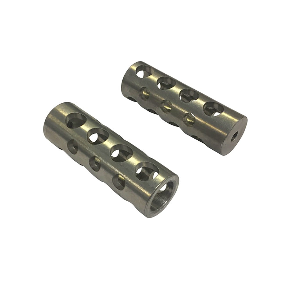ROUND MACHINE GUN PASSENGER FOOT CONTROL PEGS-FOOT CONTROLS-HellBend Custom Cycles