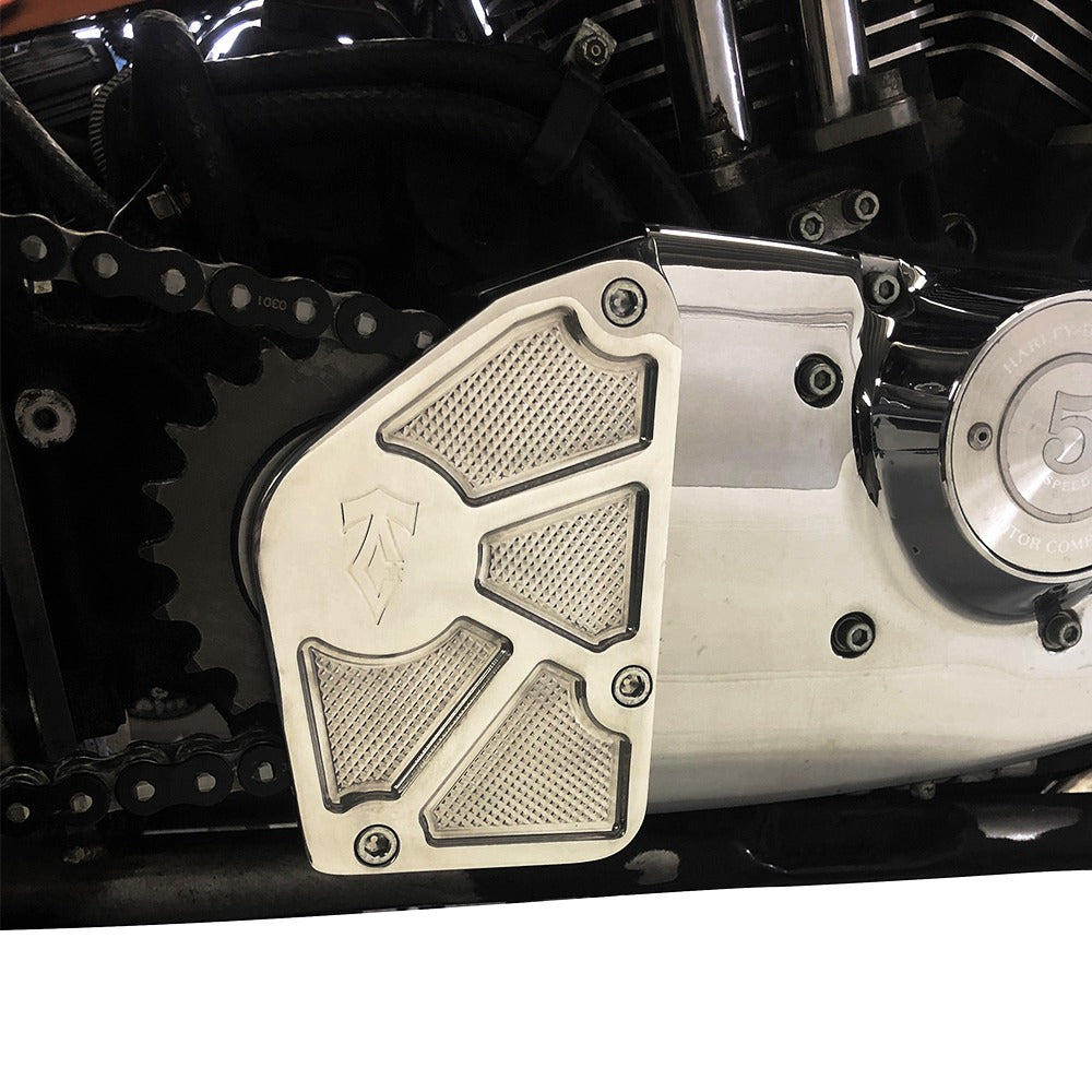 SPORTSTER WIDE TIRE SPROCKET BEARING SUPPORT 91-03 POLISHED-FRAMES & HARDTAIL-HellBend Custom Cycles