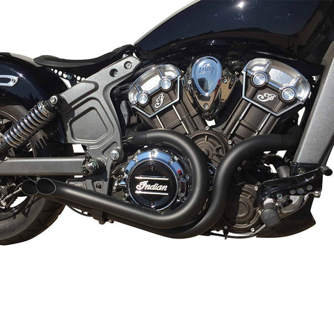 BACKDRAFT SLASHCUT EXHAUST HEADER INDIAN® SCOUT-EXHAUST-HellBend Custom Cycles