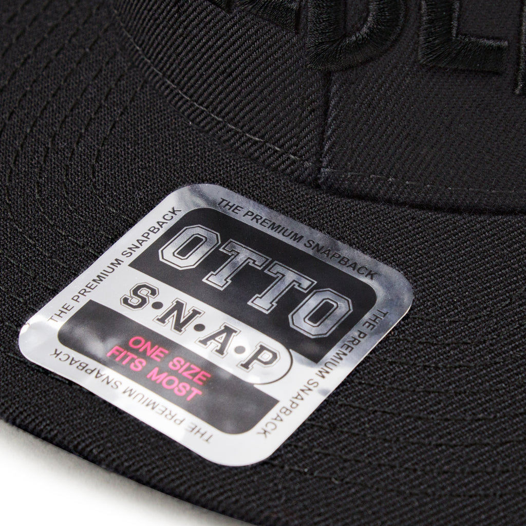 Hellbend Premium Snapback - Black HB-Apparel, Goods, & Gear-HellBend Custom Cycles