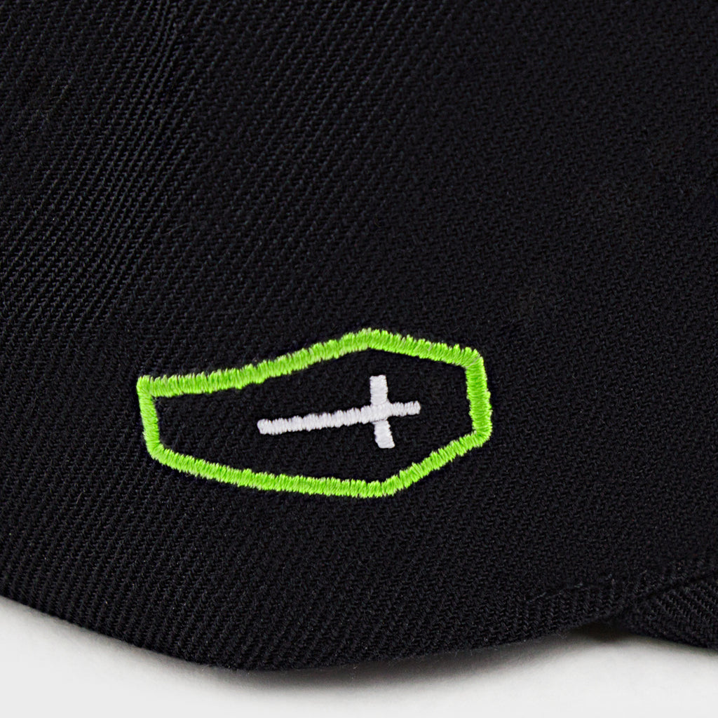 Hellbend Premium Snapback Cap - Green HB-Apparel, Goods, & Gear-HellBend Custom Cycles