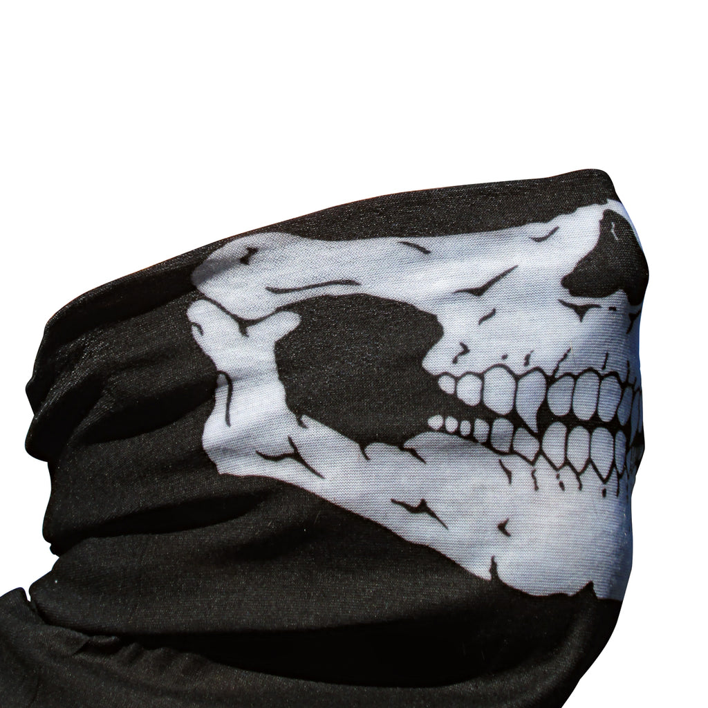 Skull Face Neck Sleeve-Apparel, Goods, & Gear-HellBend Custom Cycles