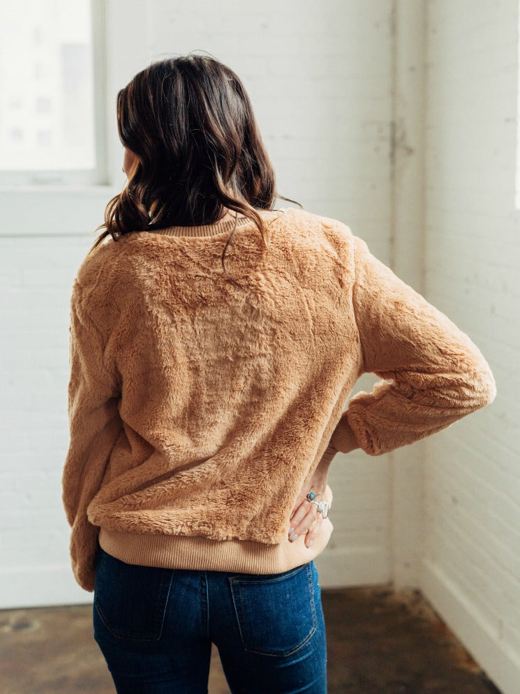 Fuzzy Taupe Pullover