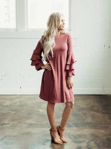 Quilted Aria Dress - Maroon