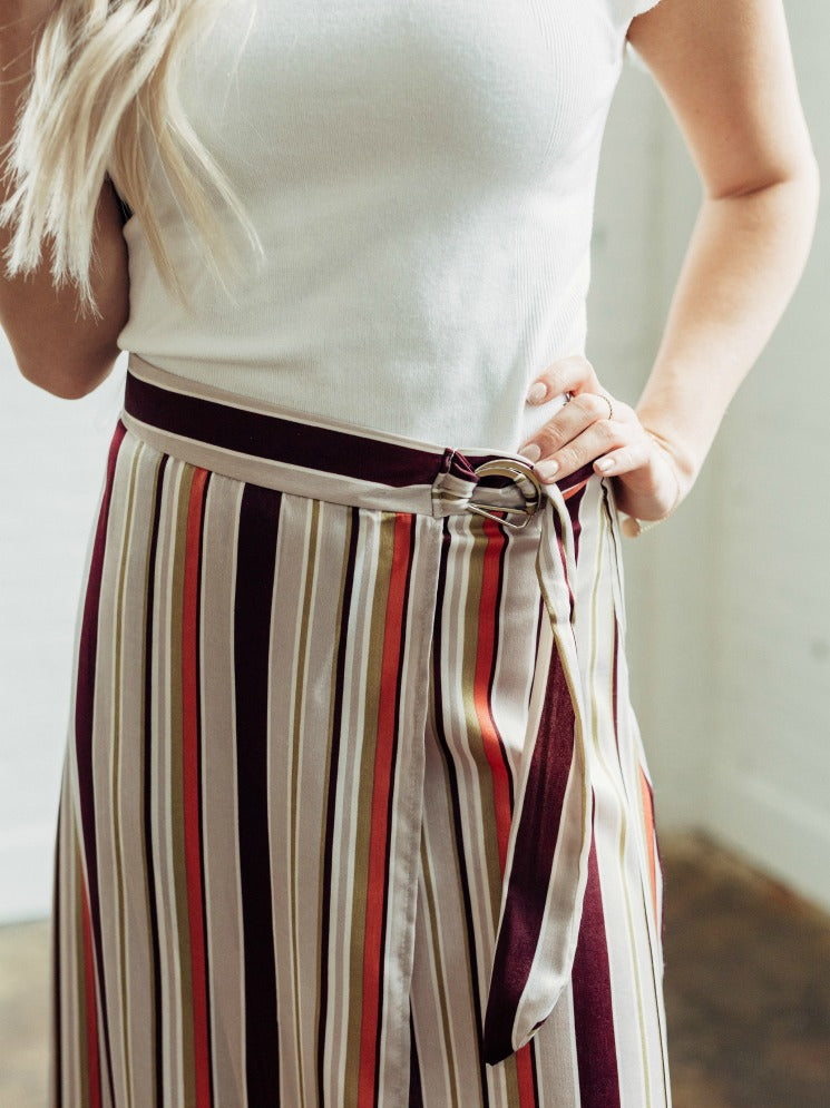 Multi Colored Wrap Skirt