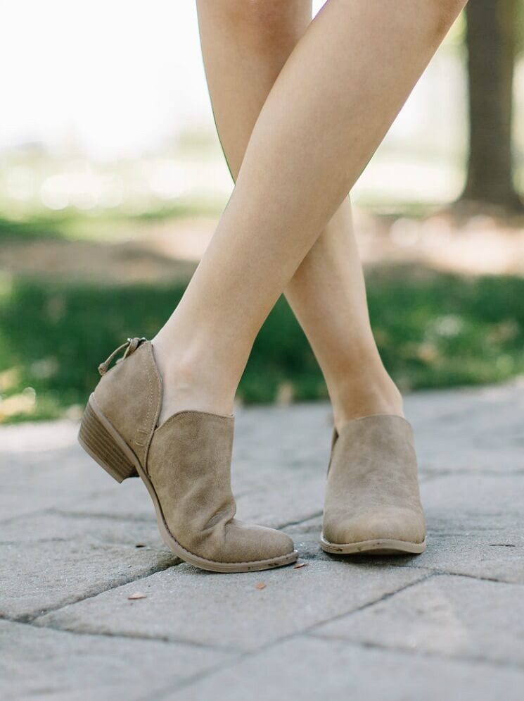 Toffee Distressed Bootie