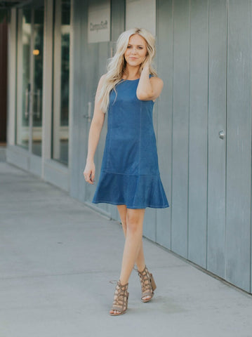 Sky Blue Tie Dye Dress