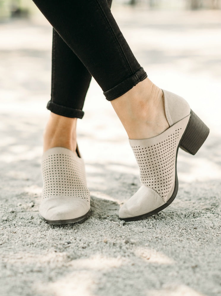 Oatmeal Suede Bootie