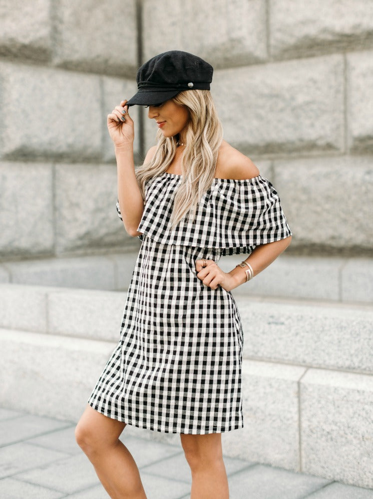 Checkerboard Dress
