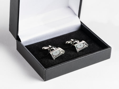 Technics SL-1200 Silver Sterling Cufflinks