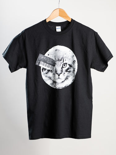 Cats On Synthesizers In Space - Moon T-Shirt