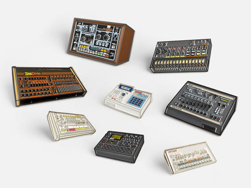Classic Drum Machines Pin Badge Bundle