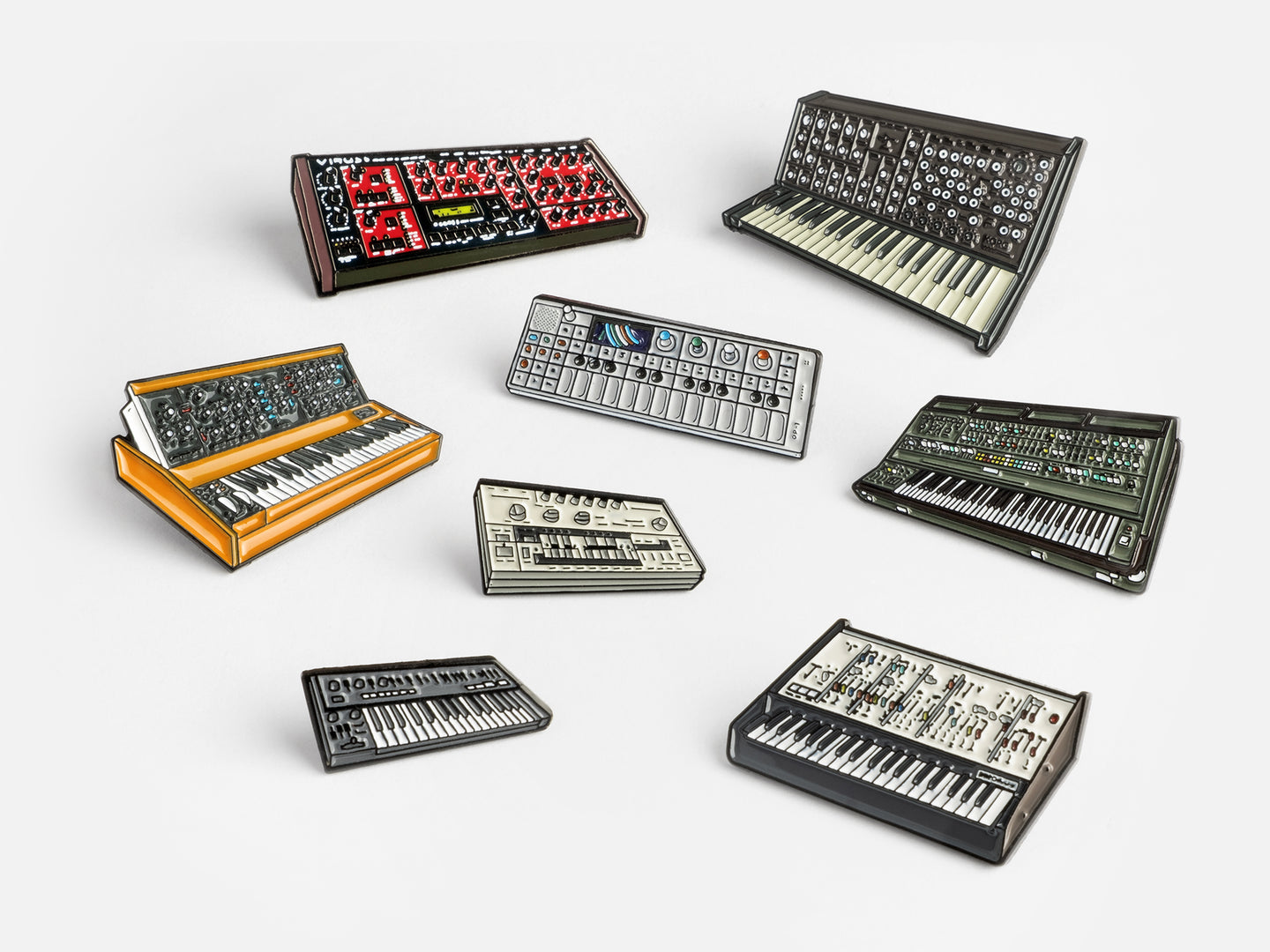 Classic Synths Pin Badge Bundle