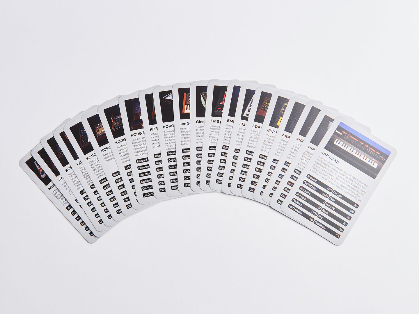 Vintage Synth Trumps 2 - Playing Cards