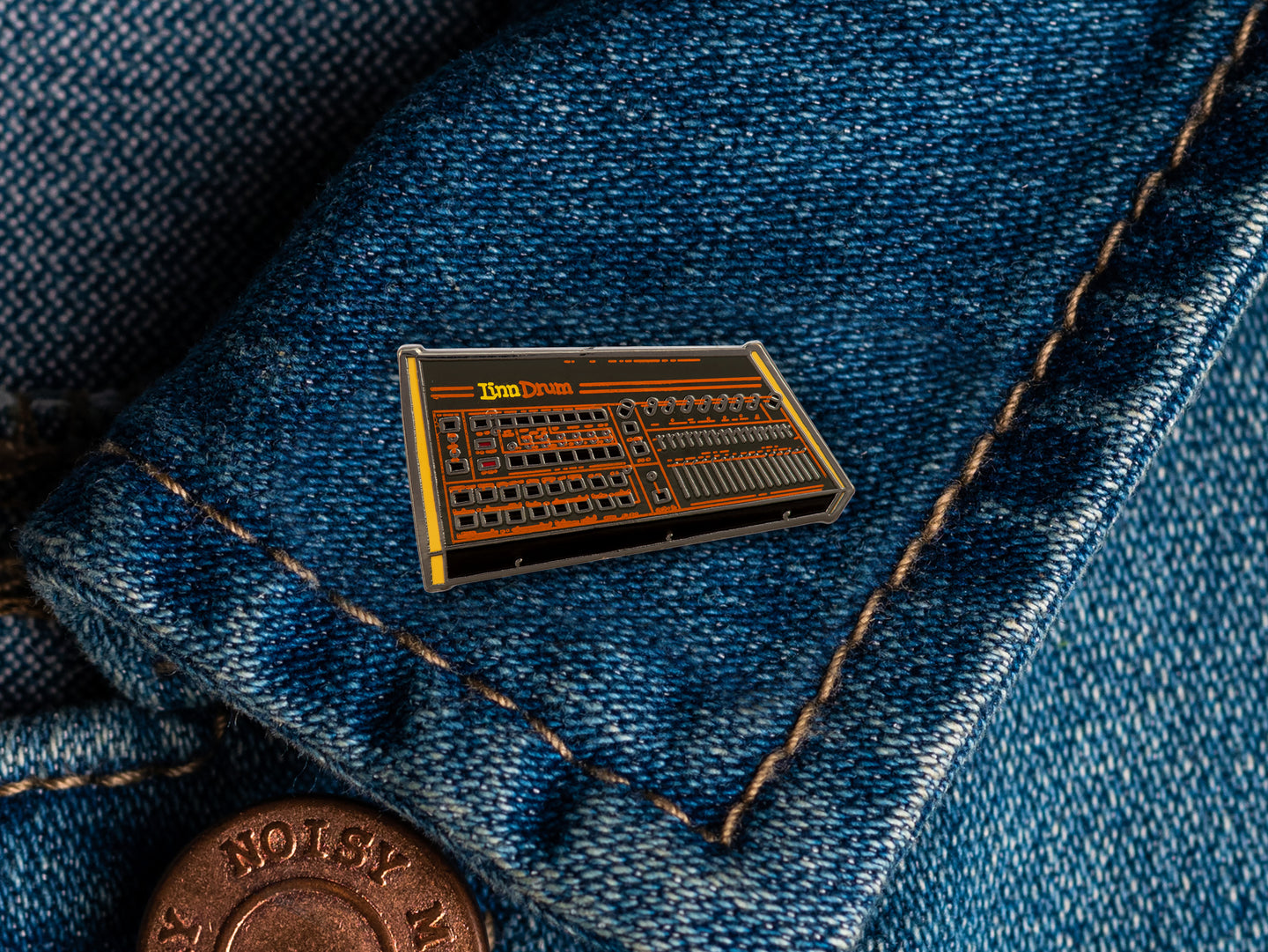 LinnDrum Enamel Pin Badge