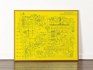 Acid House Love Blueprint - A History of Dance Music and Rave Culture (Yellow)