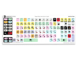 Avid Pro Tools Keyboard Shortcut Stickers