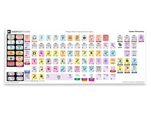 Adobe Photoshop Keyboard Shortcut Stickers