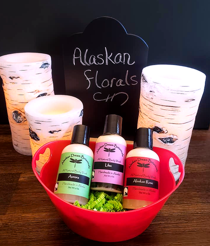 Alaskan Florals Body Wash Basket