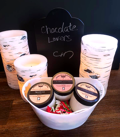 Chocolate Lovers Body Butter Basket