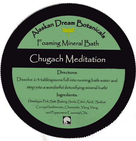 Chugach Meditation Spa Grade Foaming Mineral Bath - Alaskan Dream Botanicals