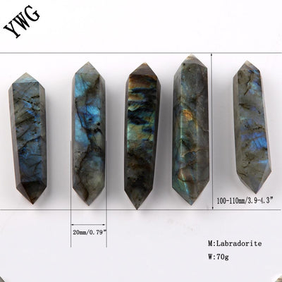 Natural Labradorite Double Point Wand