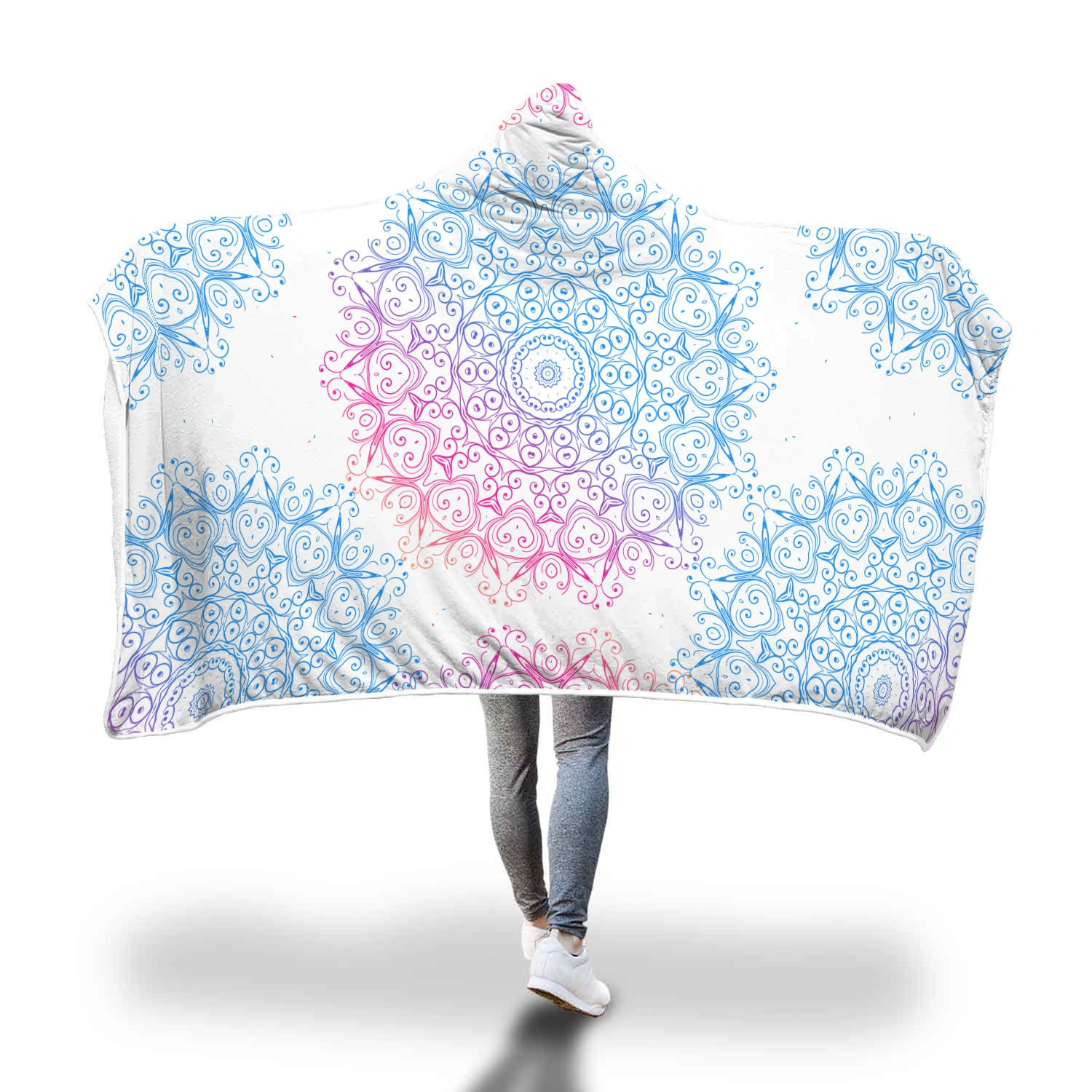 Mandala Vibes Hooded Blanket