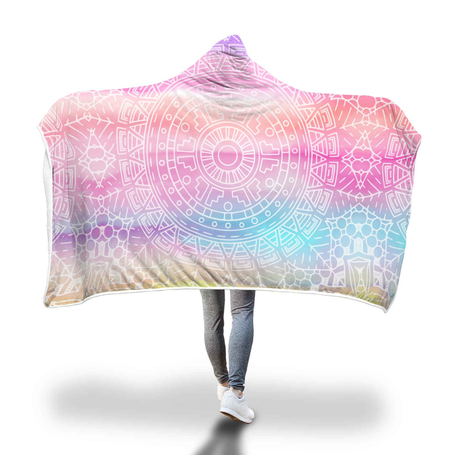 Aztec Vibes Hooded Blanket