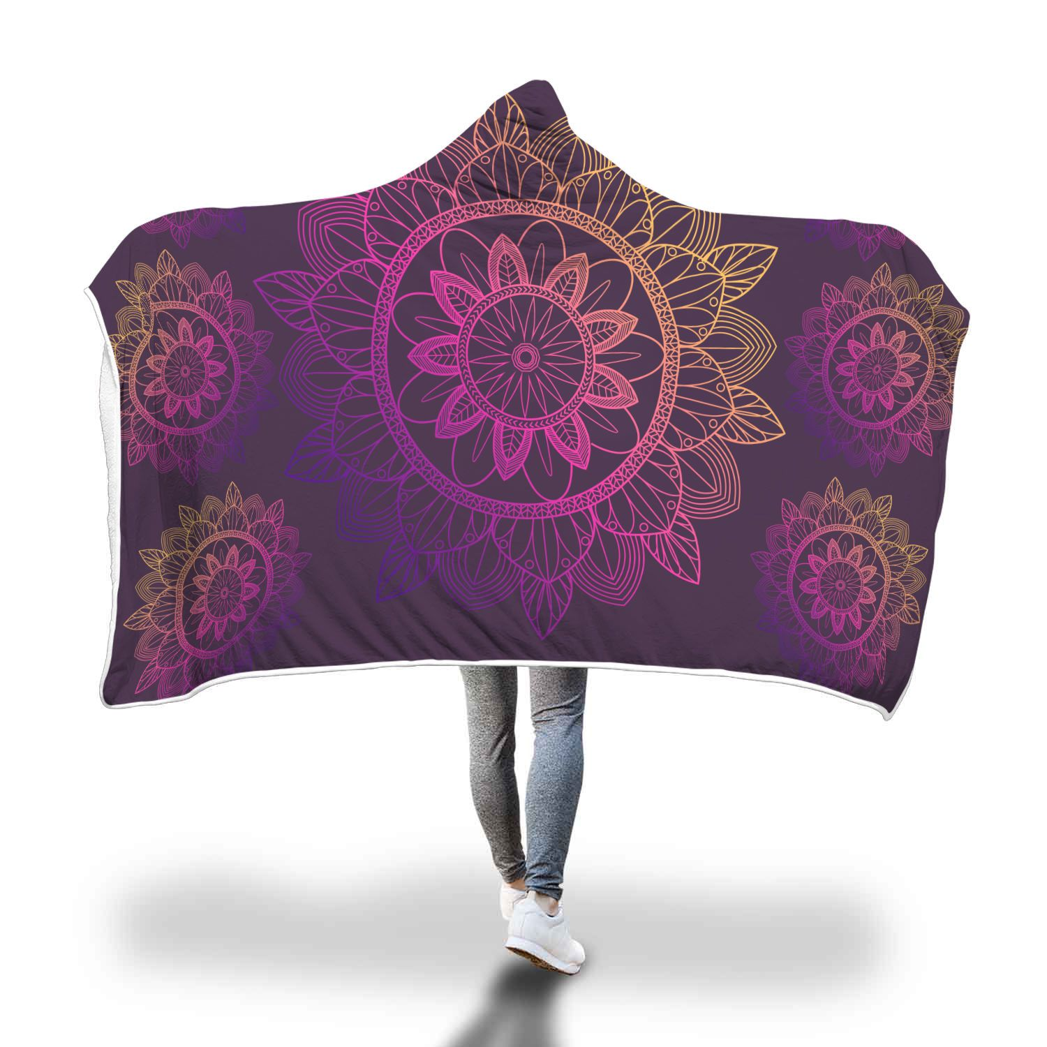 Mandala Love Hooded Blanket