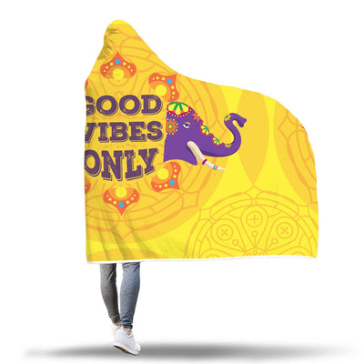 Good Vibes Only Hooded Blanket