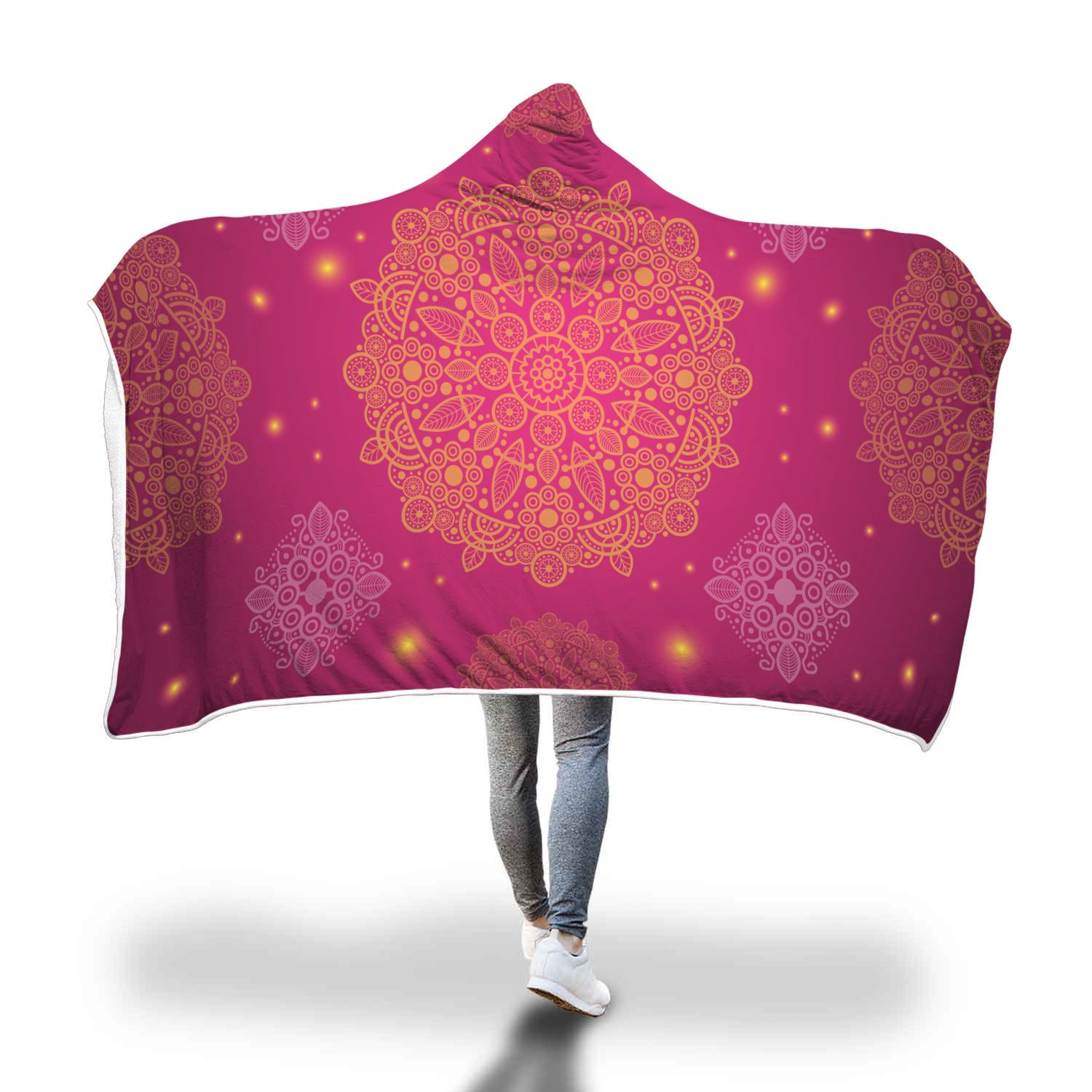 Cosmic Mandala Hooded Blanket