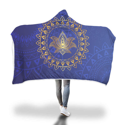 Lotus Love Hooded Blanket