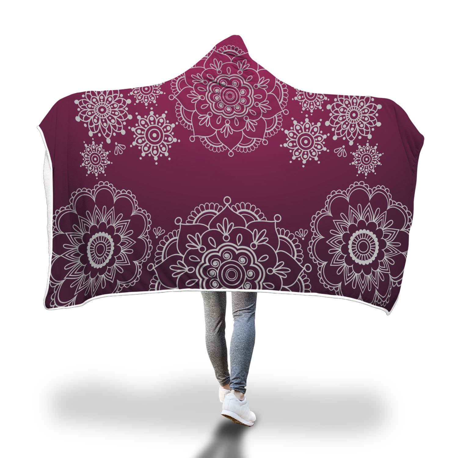 Mandala Flow Hooded Blanket
