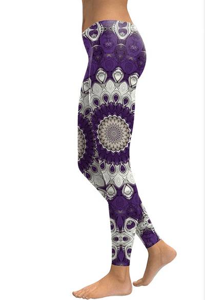 Purple Mandala Flower Leggings