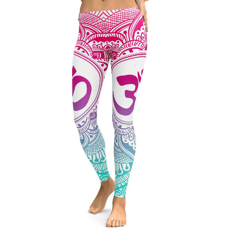Hot Pink OM Mandala Leggings