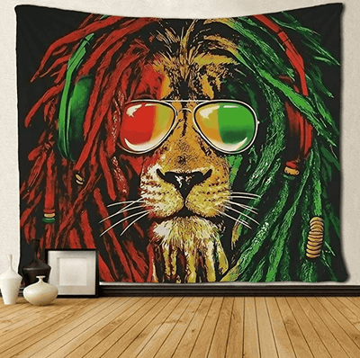 Rasta Lion Tapestry Wall Art