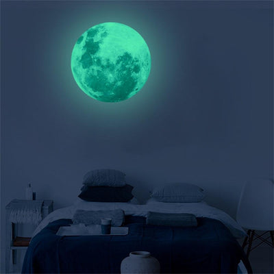 30cm Glow in the Dark Moon Wall Decal - My Metanoia Co