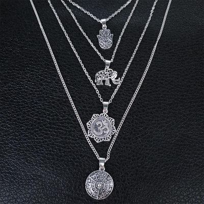 Multilayer Spiritual Pendant Necklace
