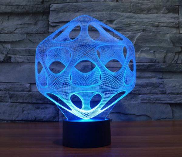 3D LED Abstract Night Light - My Metanoia Co