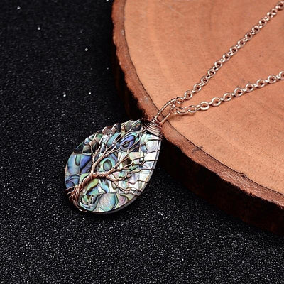 Tree Of Life Seashell Pendant