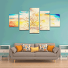 Watercolor Lotus Dream Canvas Wall Art (5 pieces)