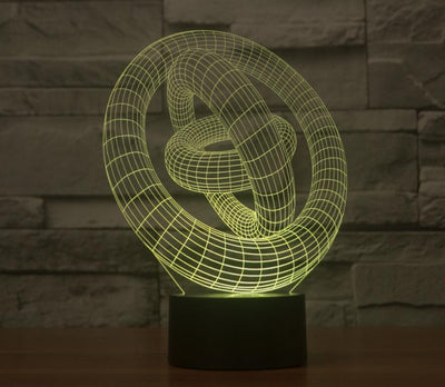 3D LED 3 Ring Night Light - My Metanoia Co