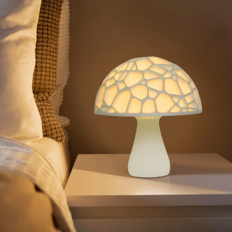 3D Printed 16 Color Led Mushroom Lamp