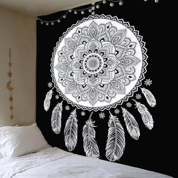 Lotus Mandala Dream Catcher Tapestry