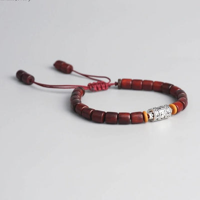 Handmade Tibetan Buddhist Prayer Wheel Bead Bracelet